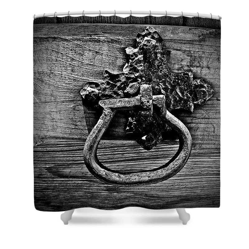 Handle Shower Curtain featuring the photograph Vintage Metal Handle by Perry Webster