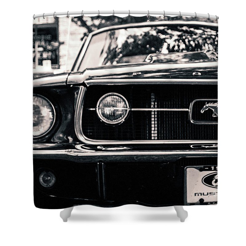 Mustang Shower Curtain featuring the photograph Vintage Mustang by Edmund Mazzola