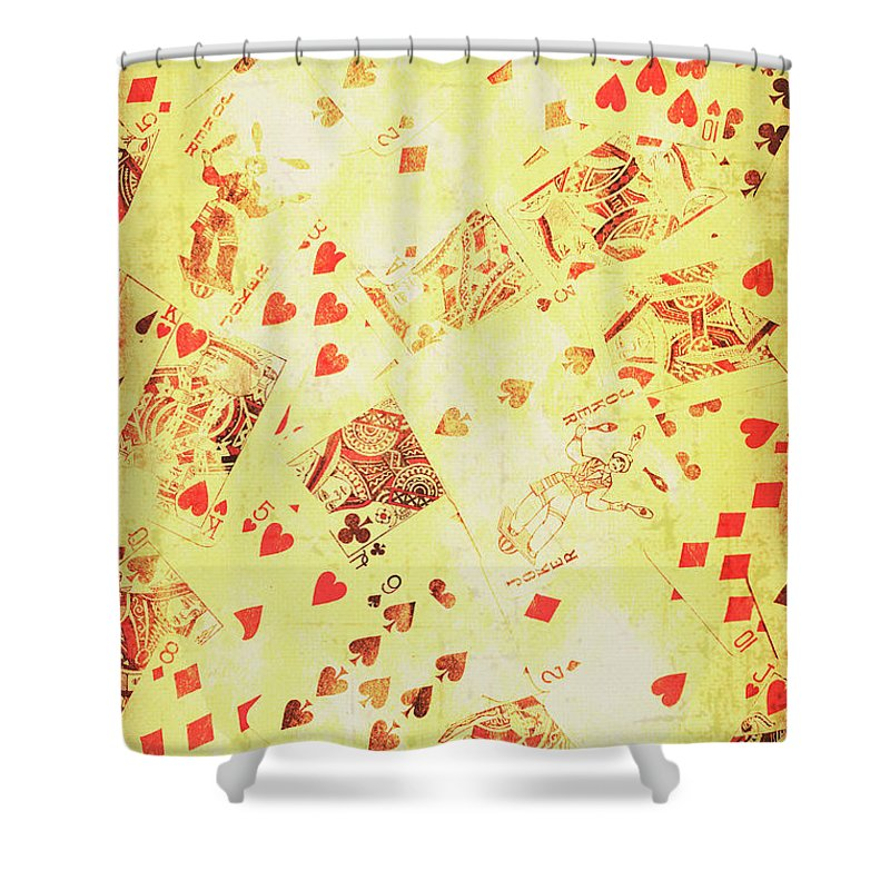 Wild West Shower Curtain featuring the photograph Vintage Poker Background by Jorgo Photography - Wall Art Gallery