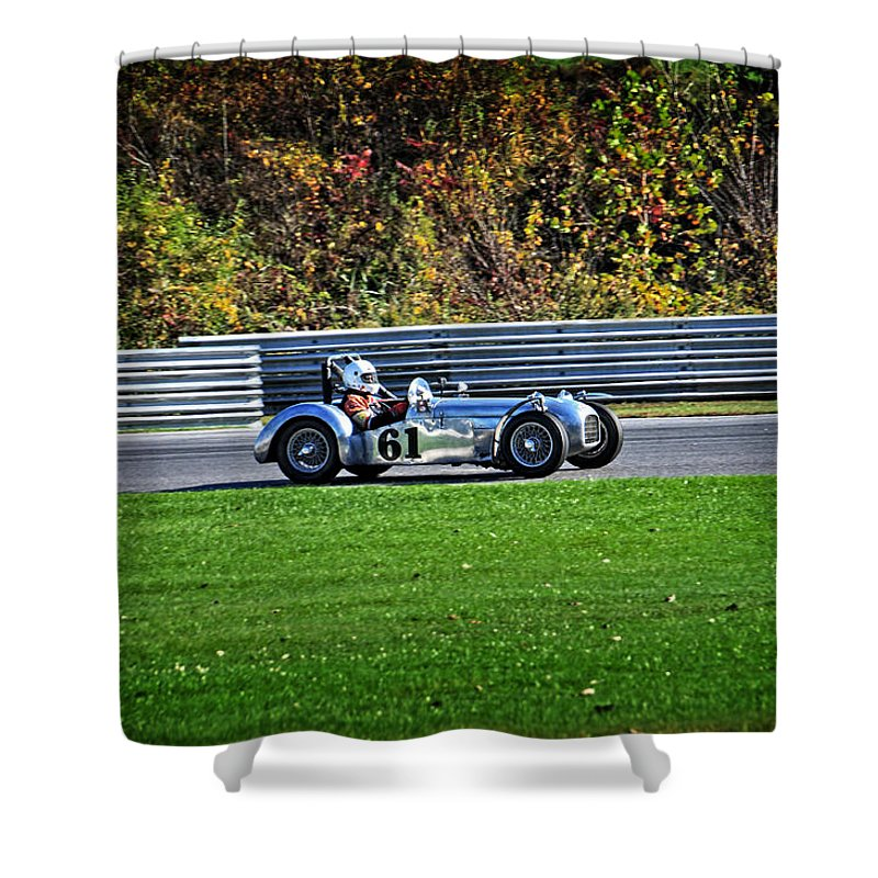 Vsca Shower Curtain featuring the photograph Vintage Racer 61 by Mike Martin