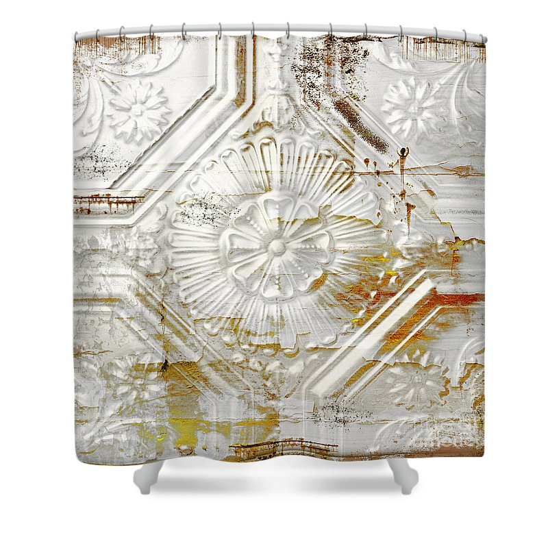 Vintage Rusty Tin Ceiling Tile Shower Curtain For Sale By Mindy Sommers