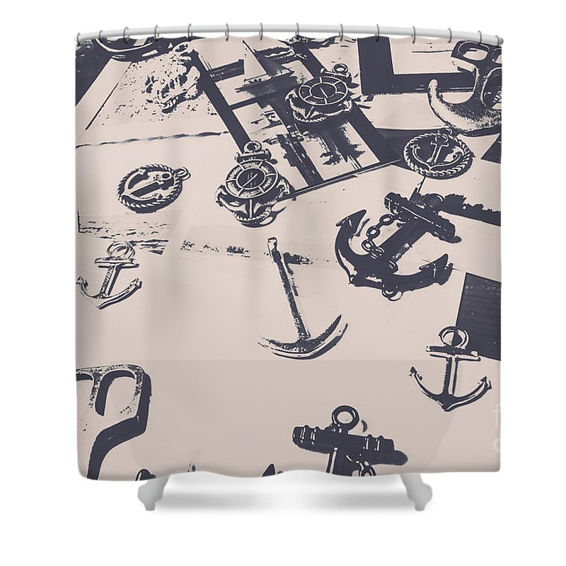 Nautical Shower Curtain featuring the photograph Vintage Sailing Art by Jorgo Photography - Wall Art Gallery