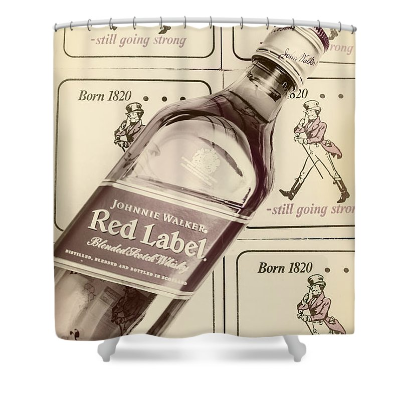 Pub Shower Curtain featuring the photograph Vintage Scotch Whisky Pub Artwork by Jorgo Photography - Wall Art Gallery