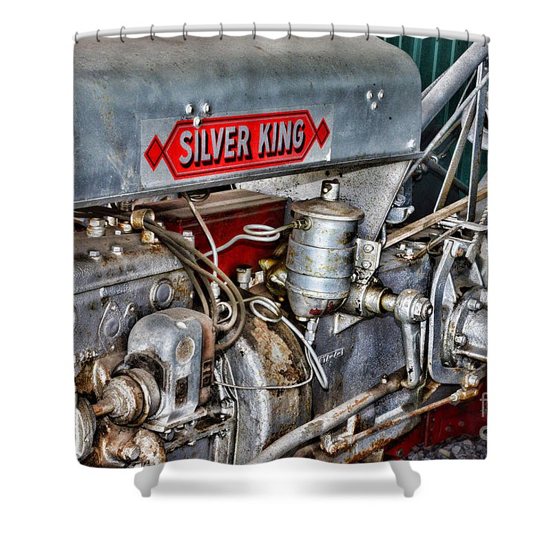 Paul Ward Shower Curtain featuring the photograph Vintage Silver King Tractor by Paul Ward