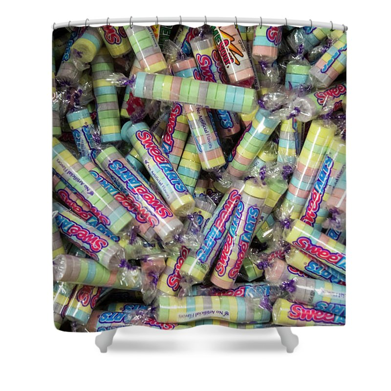 Candies Shower Curtain Featuring The Photograph Vintage Sweet Tarts By Karen Foley