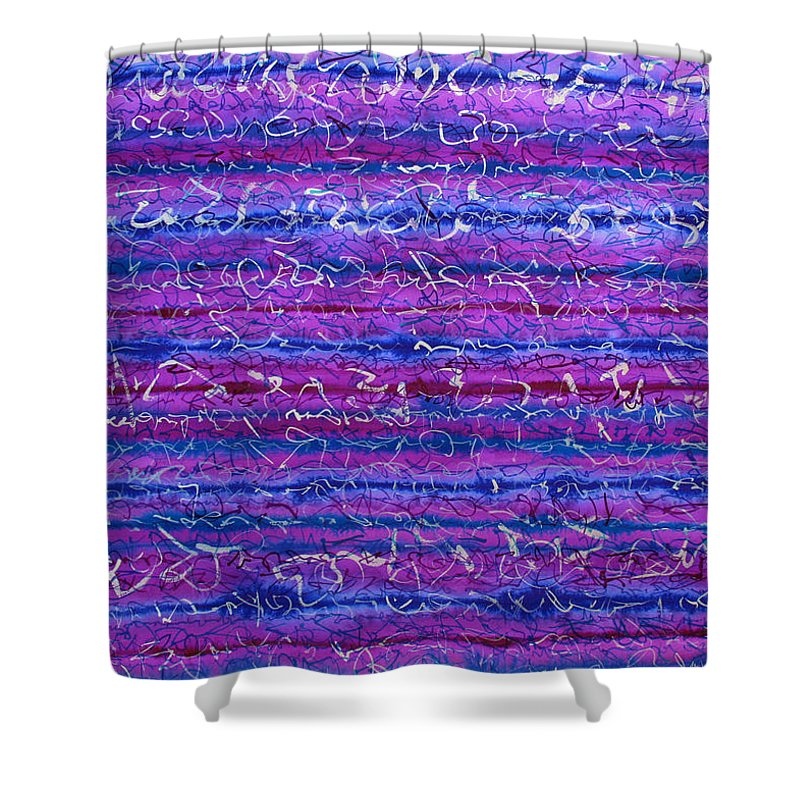 Sunrise Shower Curtain featuring the painting Violet Hours by Jason Messinger