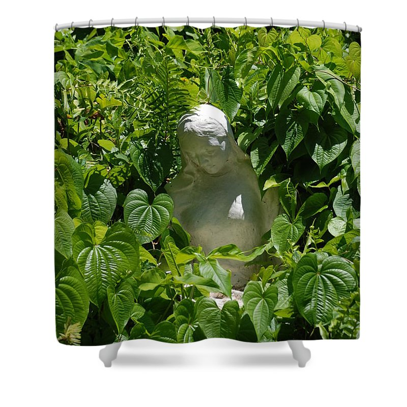 Miami Monastery Shower Curtain featuring the photograph Virgin Mary by Rob Hans