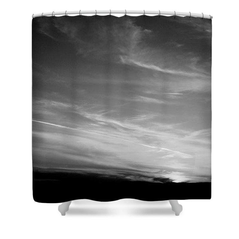 Bw Shower Curtain featuring the photograph Virginia Skies by Arlane Crump