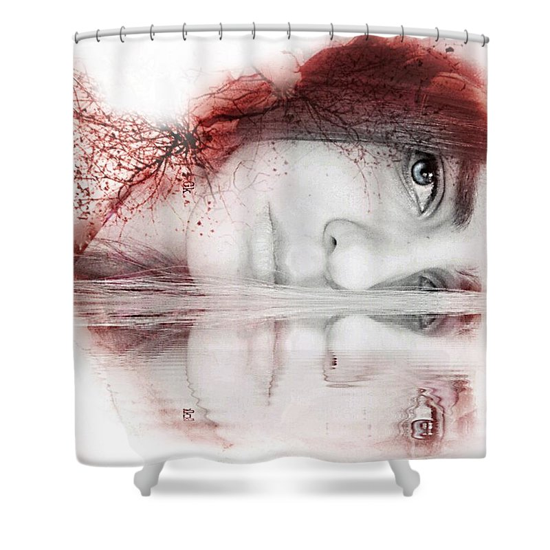 Shower Curtain featuring the digital art Virginity by Maria Drefahl
