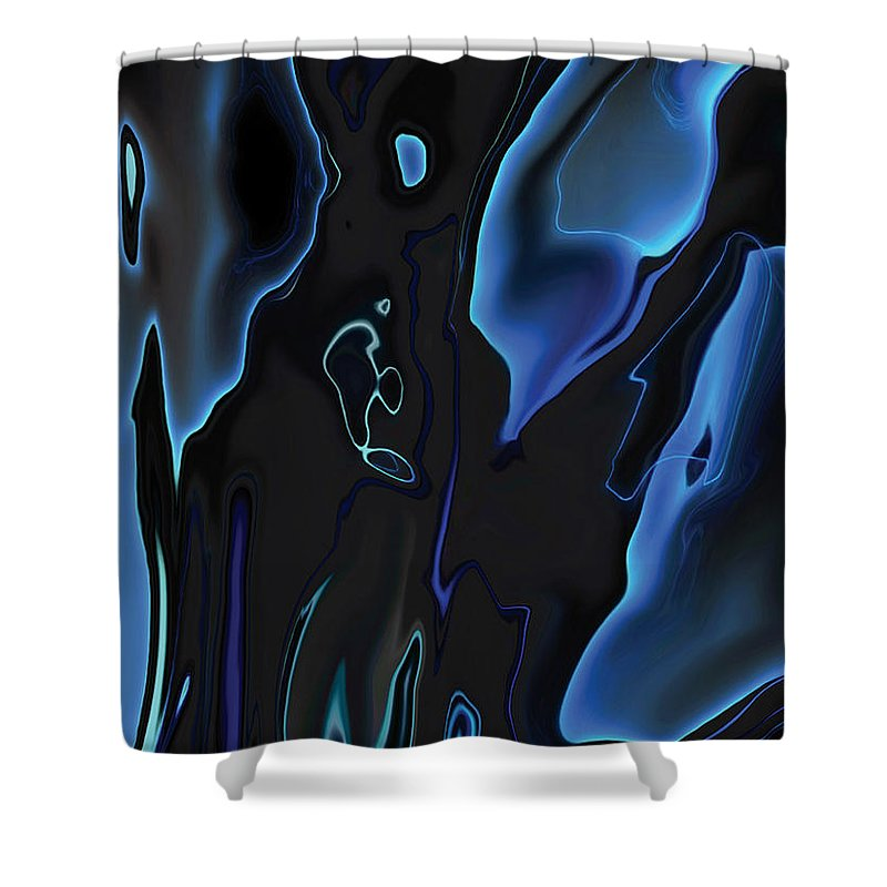 Abstract Shower Curtain featuring the digital art Virtual Life 1 by Rabi Khan