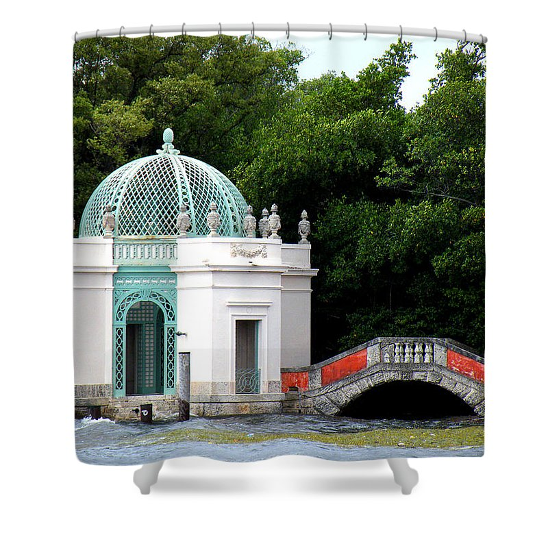 Landscape Shower Curtain featuring the photograph Viscaya by Patricia Awapara