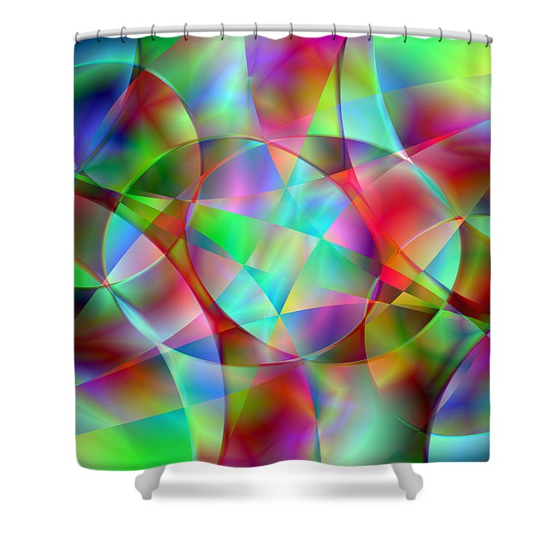 Colors Shower Curtain featuring the digital art Vision 27 by Jacques Raffin
