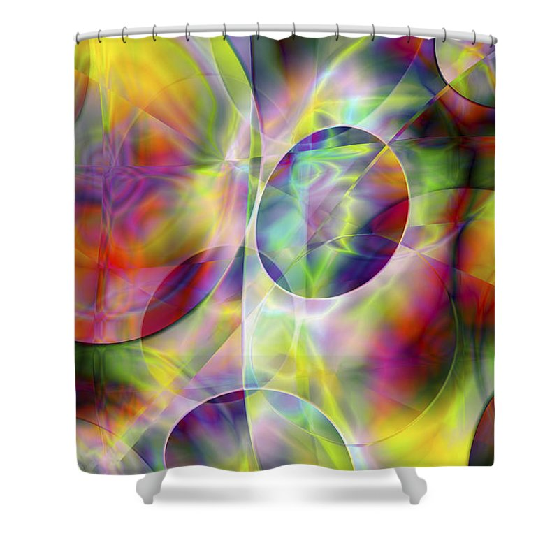 Colors Shower Curtain featuring the digital art Vision 36 by Jacques Raffin