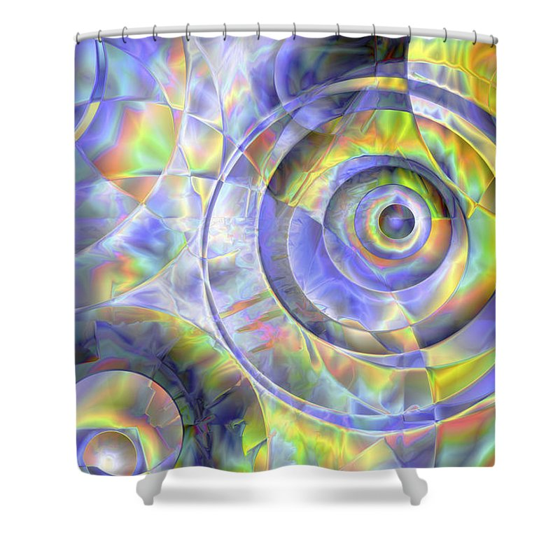 Colors Shower Curtain featuring the digital art Vision 37 by Jacques Raffin