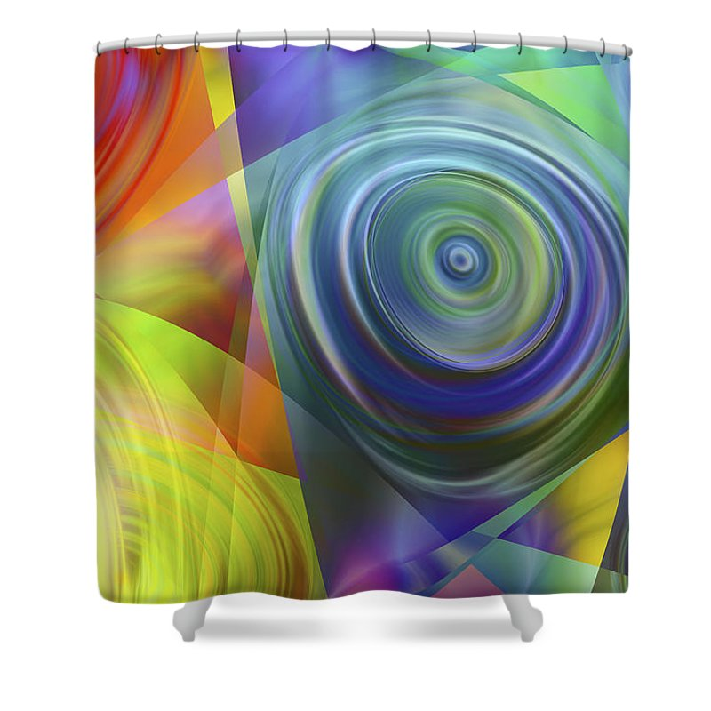 Colors Shower Curtain featuring the digital art Vision 39 by Jacques Raffin
