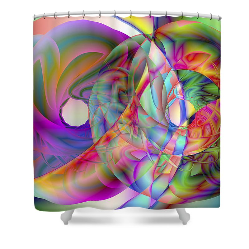 Crazy Shower Curtain featuring the digital art Vision 41 by Jacques Raffin