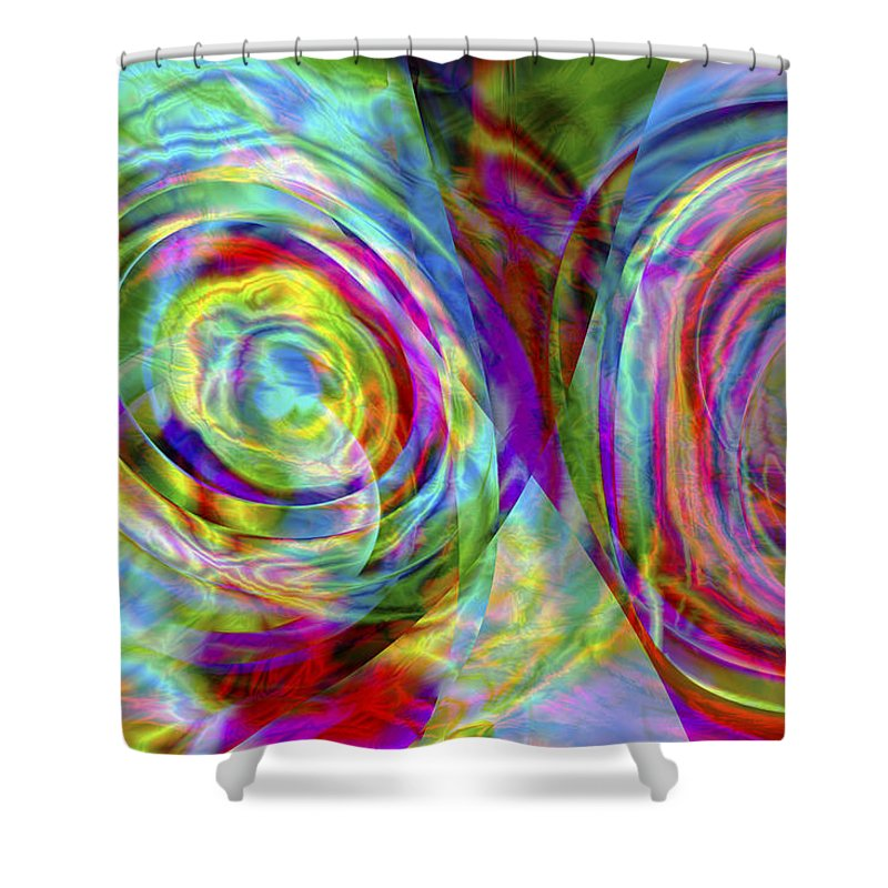 Crazy Shower Curtain featuring the digital art Vision 44 by Jacques Raffin