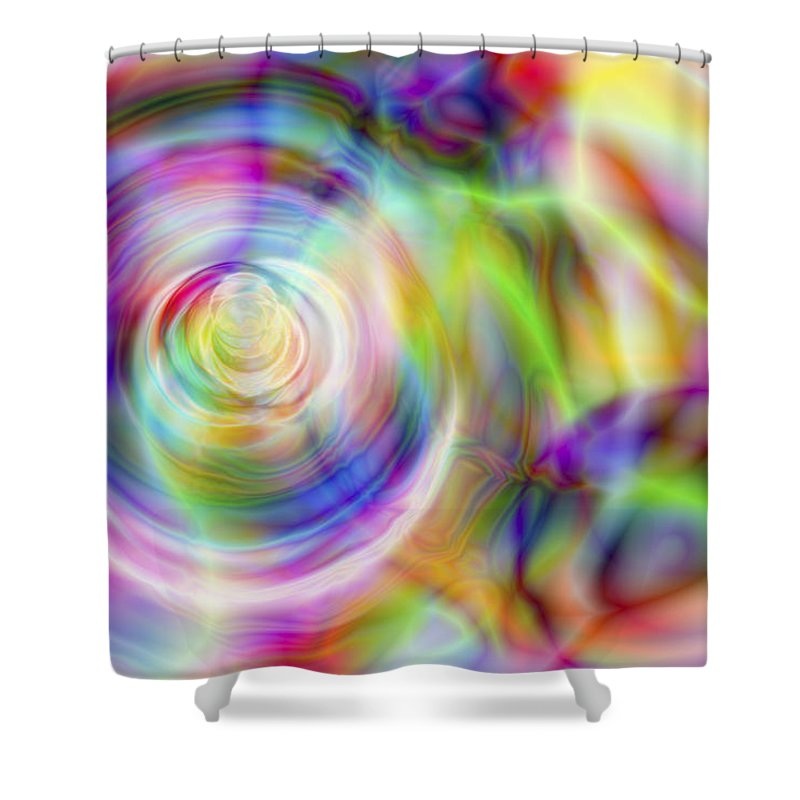 Crazy Shower Curtain featuring the digital art Vision 7 by Jacques Raffin