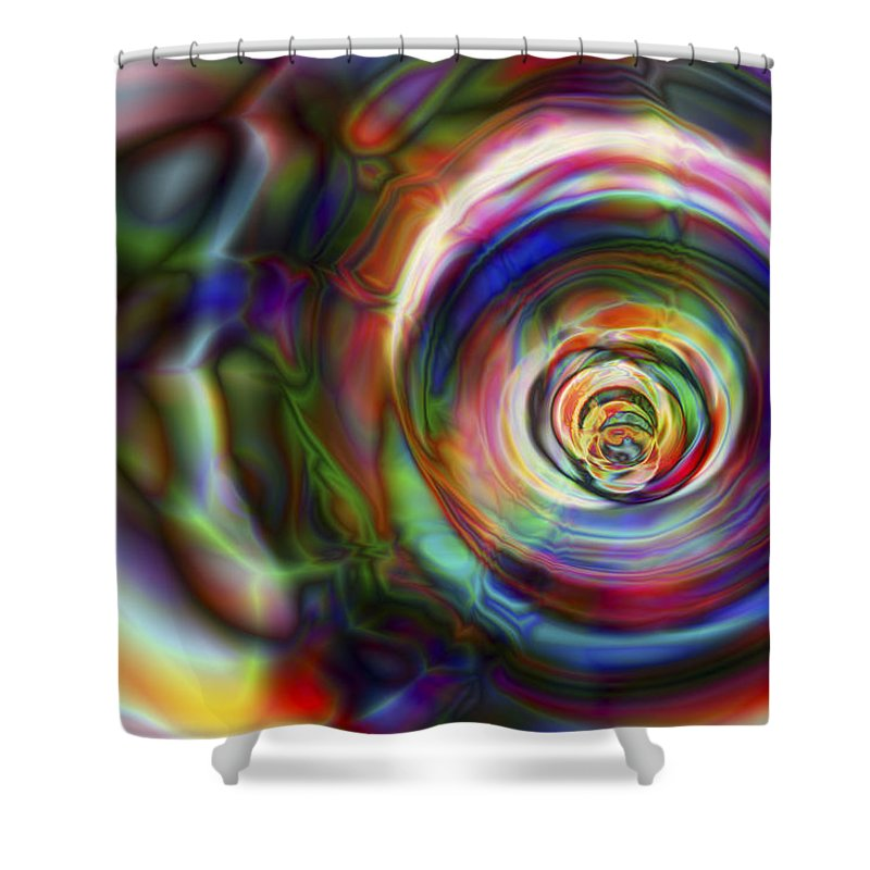 Crazy Shower Curtain featuring the digital art Vision 8 by Jacques Raffin