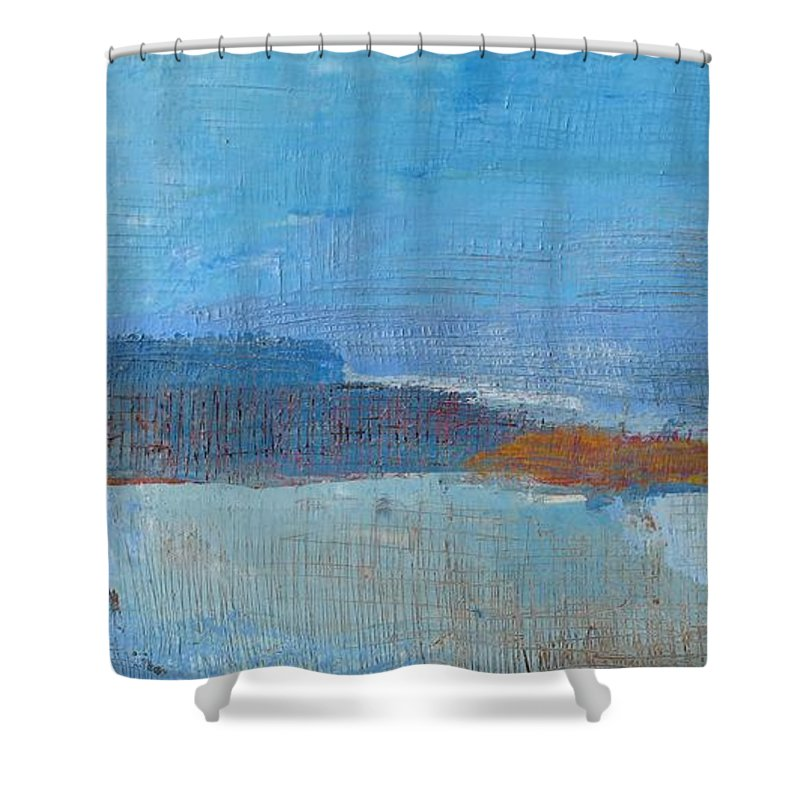 Abstract Shower Curtain featuring the painting Vision by Habib Ayat
