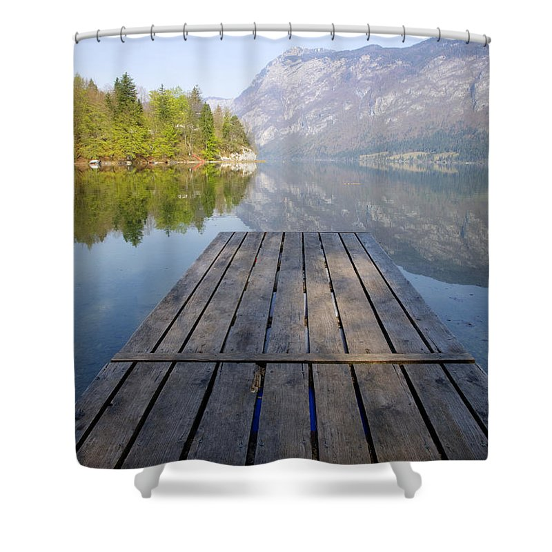 Bohinj Shower Curtain featuring the photograph Visions Of Bohinj by Ian Middleton