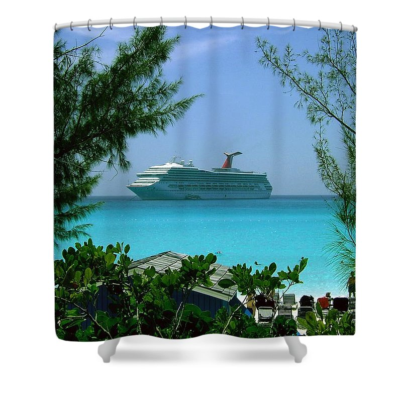 Paradise Shower Curtain featuring the photograph Visiting Paradise by Gary Wonning