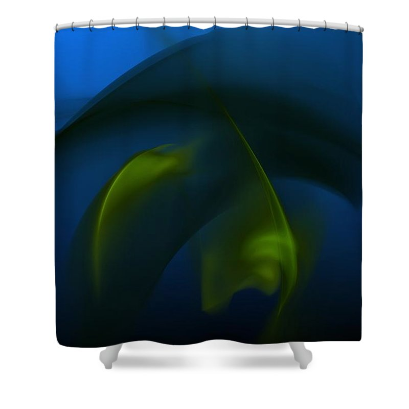 Digital Painting Shower Curtain featuring the digital art Visitors From The Deep by David Lane