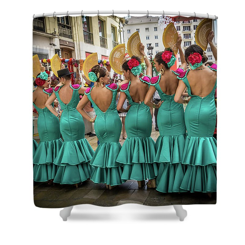 Andalusia Shower Curtain featuring the photograph Viva La Feria II by Peter Hayward Photographer