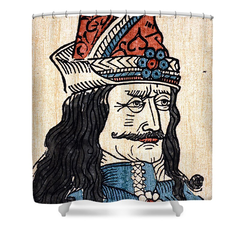 15th Century Shower Curtain featuring the photograph Vlad IIi (1431-1477) by Granger
