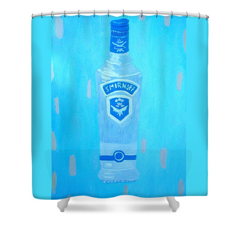 Pop Art Shower Curtain featuring the painting Vodka by Patrice Tullai