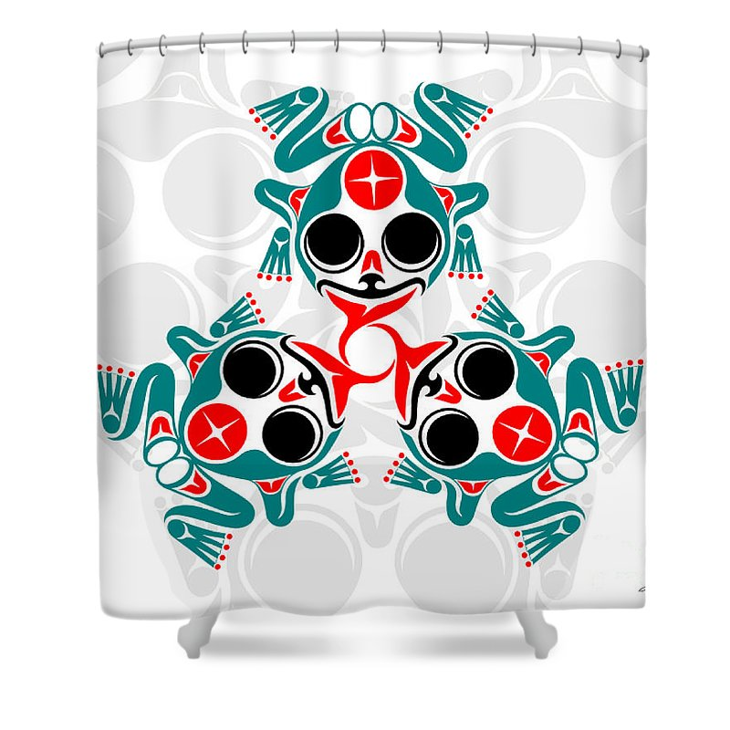Frogs Shower Curtain featuring the digital art Voices Of The People by Lon French