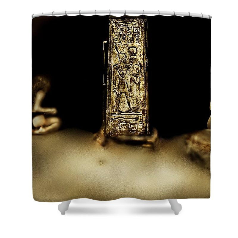 Maiden Shower Curtain featuring the digital art Void Maidens Of Amenta by Timothy Chastain