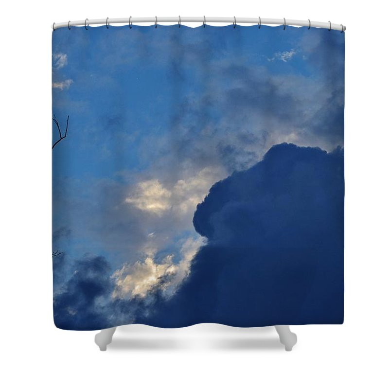 Weather Shower Curtain featuring the photograph Volatile Autumn Weather by Eileen Brymer