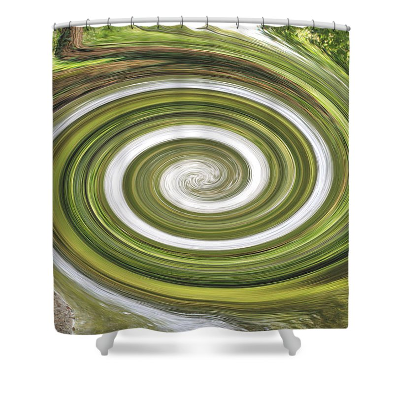 Abstract Shower Curtain featuring the photograph Vortex - River Frays Abstract by Chris Day