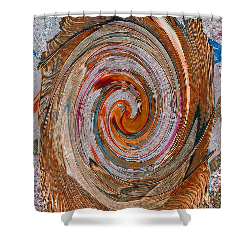 Vortex Shower Curtain featuring the photograph Vortex Abstract Art No. 15 by John R Bryant