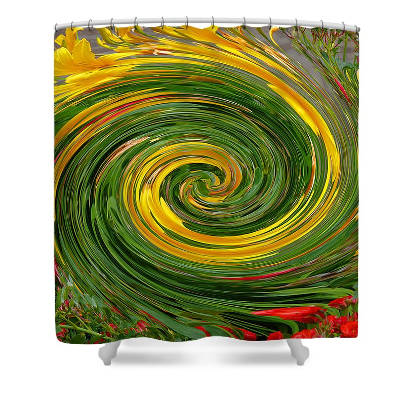 Vortex Shower Curtain featuring the photograph Vortex Abstract Art No. 16 by John R Bryant