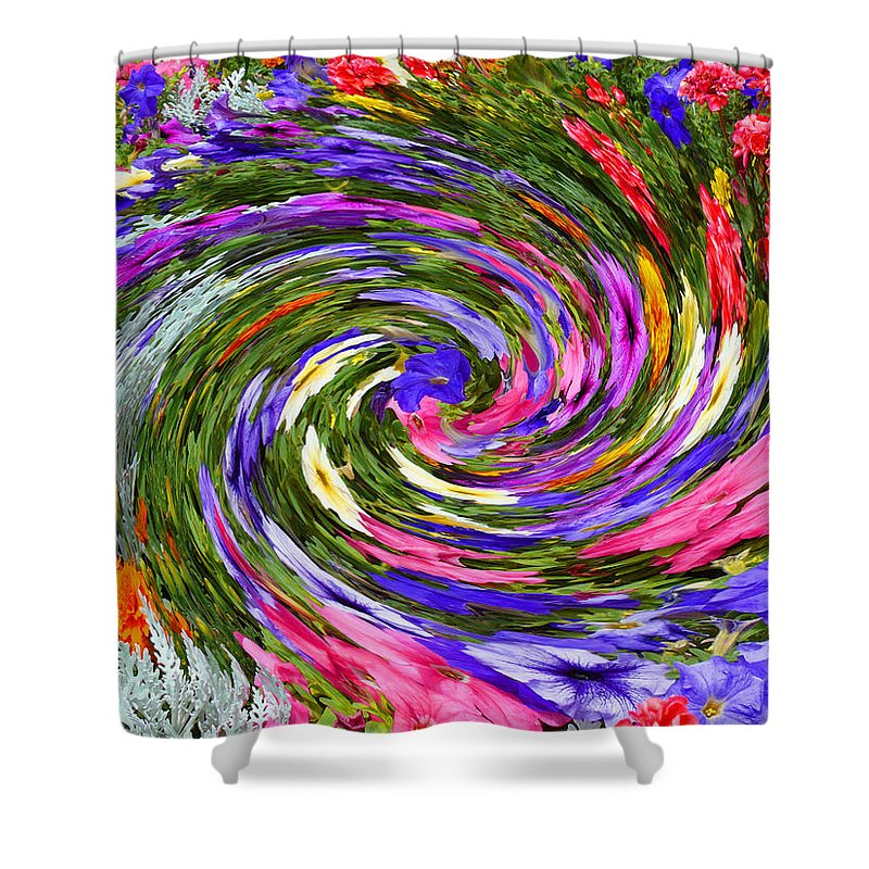 Vortex Shower Curtain featuring the photograph Vortex Abstract Art No. 18 by John R Bryant