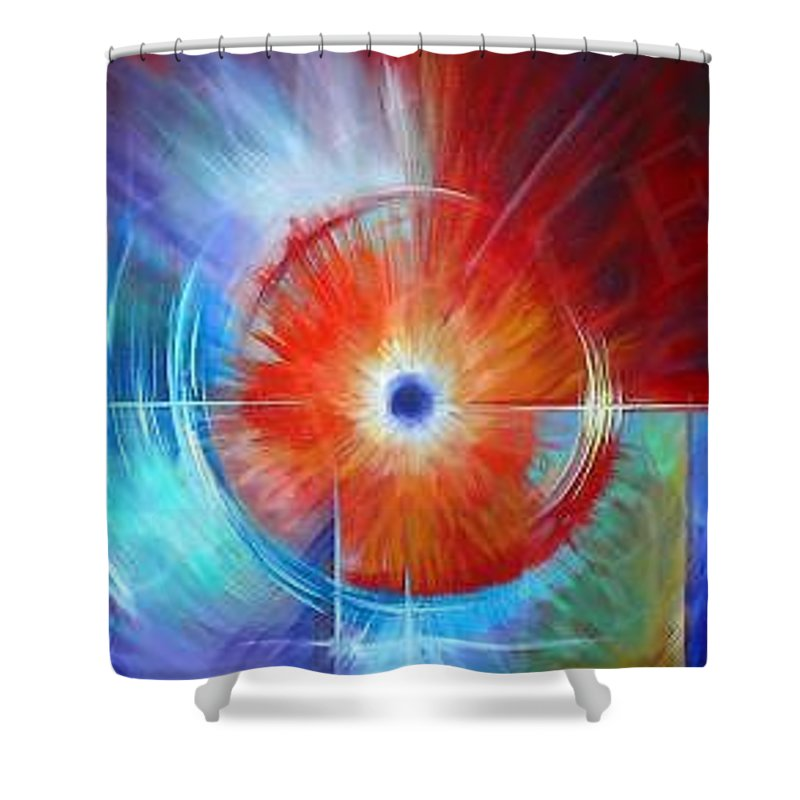 Clouds Shower Curtain featuring the painting Vortex by James Christopher Hill