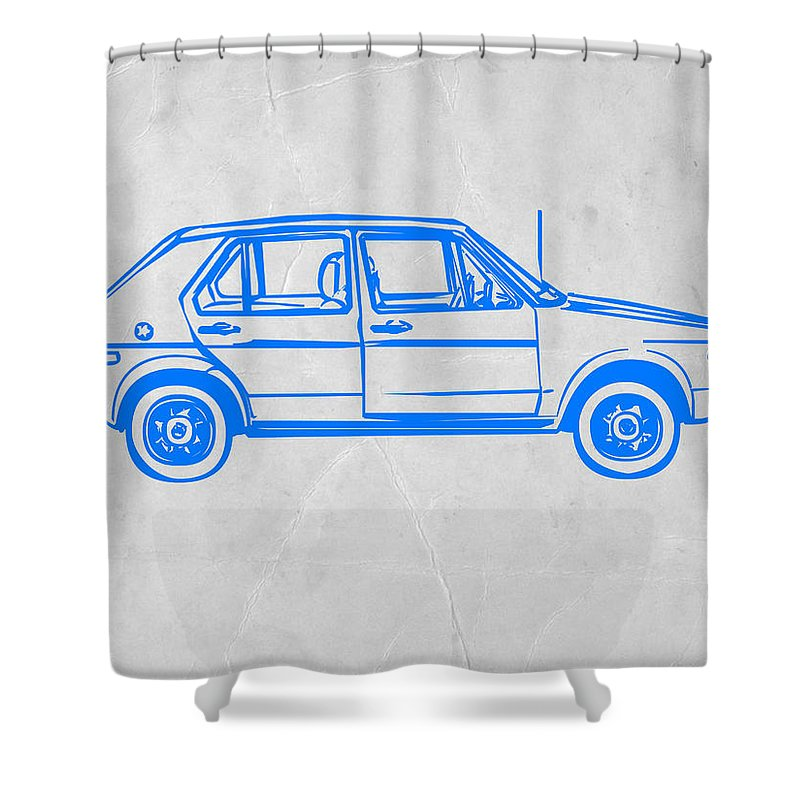 Vw Golf Shower Curtain Featuring The Digital Art By Naxart Studio