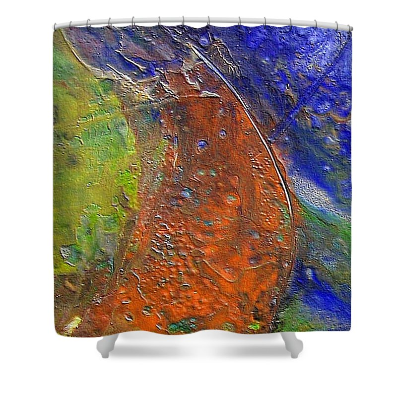 Abstract Shower Curtain featuring the painting W 028 by Dragica Micki Fortuna