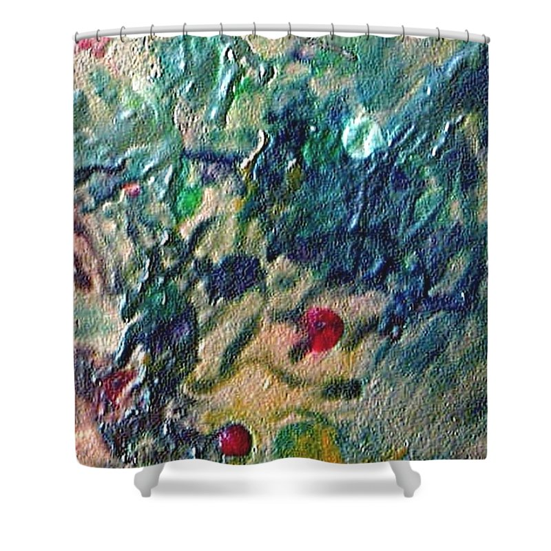 Abstract Shower Curtain featuring the painting W 032 by Dragica Micki Fortuna