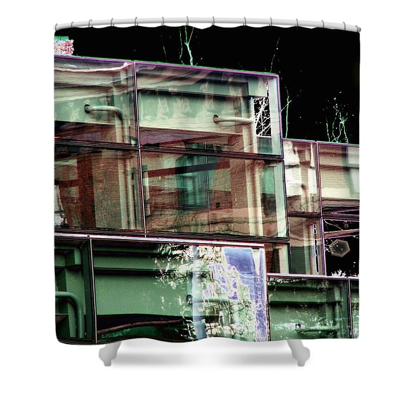 Seattle Shower Curtain featuring the digital art Wa State Convention And Trade Center by Tim Allen