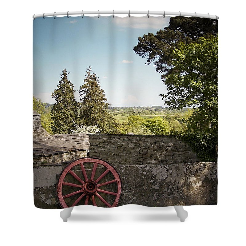 Irish Shower Curtain featuring the photograph Wagon Wheel County Clare Ireland by Teresa Mucha