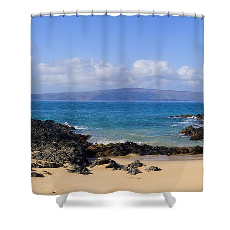 Afternoon Shower Curtain featuring the photograph Wai Beach by Ron Dahlquist - Printscapes