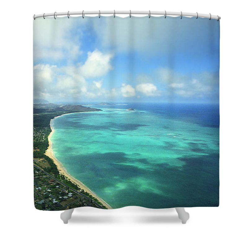 Waimanalo Shower Curtain featuring the photograph Waimanalo Bay by Kevin Smith