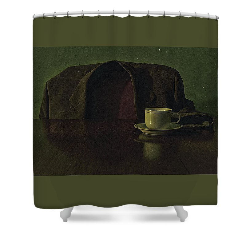 Still Life Shower Curtain featuring the photograph Waiting For Coffee by Kevin Towler