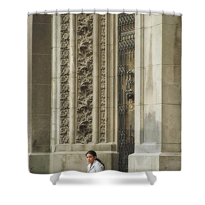 Church Shower Curtain featuring the photograph Waiting For God by Kathy McClure