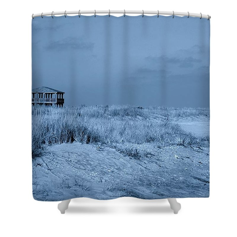 Jersey Shore Shower Curtain featuring the photograph Waiting For Summer - Jersey Shore by Angie Tirado