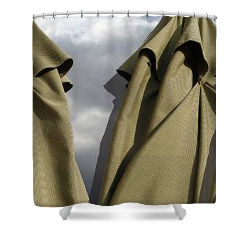 Digital Image Shower Curtain featuring the digital art Waiting For The Storm by Ron Bissett