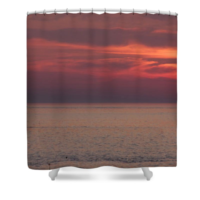 Sunrise Ocean Shower Curtain featuring the photograph Waiting To Sail by Michael Mooney